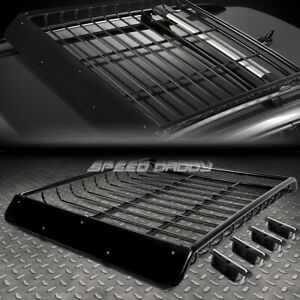 53 X 43 Mild Steel Roof Rack Top Cargo Luggage Carrier Basket Wind Fairing Black