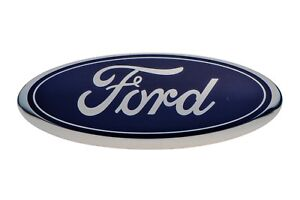 2006 2013 Ford Front Grille Blue Ford Oval Emblem Escape Taurus Fusion Focus Oem