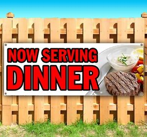 Now Serving Dinner Advertising Vinyl Banner Flag Sign Many Sizes Available Usa
