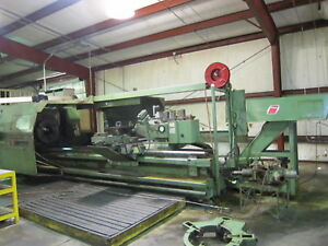Lodge Shipley Profiturn 40 Cnc Hollow Spdl Lathe W fanuc 18it Cntrl 34 5 swing