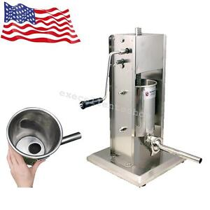 Vertical 5l Commercial Sausage Stuffer 15lb Two Speed Stainless Steel Meat Press