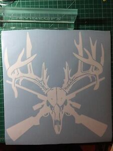 Deer Skull Hunting Lead Vinyl Decal Car Truck Window Sticker 2nd Amendment Gun
