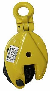 V lift Industrial Vertical Plate Lifting Clamp Steel 2204 Lbs Wll