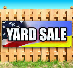 Yard Sale Advertising Vinyl Banner Flag Sign Many Sizes Available Usa