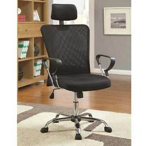 Home Office Task Swivel Executive Chair Height Black Air Mesh Headrest Armrests