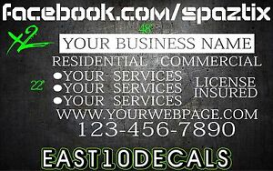 2 Van Car Vehicle Custom Vinyl Decal Lettering Stickers Business Signs Cheap