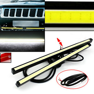 2pcs White 60 Led Long Strip Daytime Running Light Drl Car Fog Day Driving Lamp