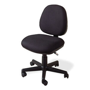 Casual Home Office Task Executive Chair Swivel Black Fabric Adjustable Height
