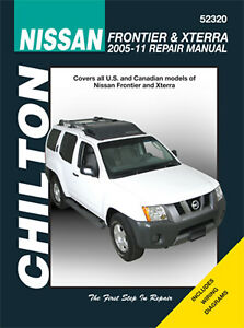 Chilton 52320 Service Repair Manual Nissan Datsun Frontier Xterra 2005 11