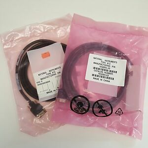Qty 2 New National Instruments Gpib Cable 183285c 02 Type X13 2 Meters