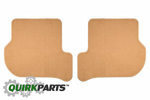 Vw Volkswagen Jetta Sedan Golf Gti Rear Euro Beige Carpeted Floor Mats Oem