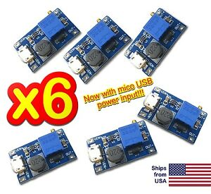6pcs Mt3608 Dc 2a Step Up Power Booster Module 2v 24v Boost Converter Arduino Us