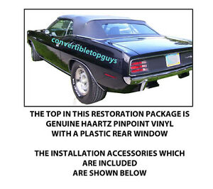 Dodge Challenger Plymouth Barracuda Convertible Top Diy Package 1970 71