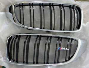 Bmw Brand Oem Genuine F32 F33 F36 4 Series M4 Front Grille Pair Factory New
