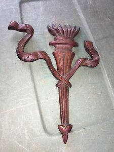 1930 S 8 1 2 Torch Ribbon Carved Wood Pediment
