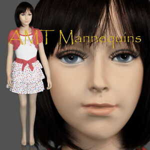 Child Fiberglass Hand Made Mannequin Abt 6 Years Old Boy Girl Manikin Trey