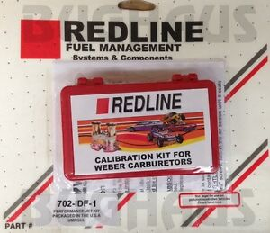 Redline Jet Pac For Genuine Weber 40 44 Idf Single Carburetors Free Ship