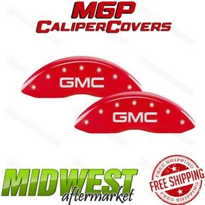 Mgp Red Gmc Engraved Front Brake Caliper Cover Fits 2007 2013 Gmc Sierra 1500