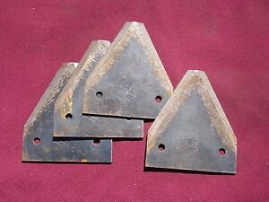 4 Vintage Johnston Sickle Bar Mower Blades