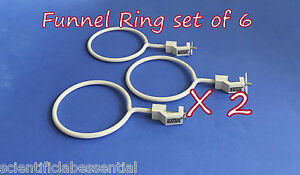 Funnel Ring retort Clamp Holder Lot Of 6 Support And Clamps glassware Handling