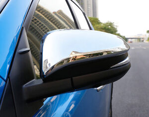 Fit For Toyota Rav4 2013 2017 Car Side Rear Mirror View Cover Trim Abs Chrome