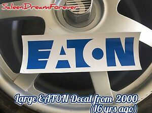 Eaton Supercharger Decal Sticker Frm 2000 Mustang Gt Ford Saleen S281sc Shelby