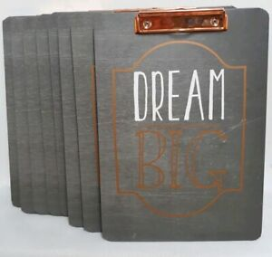 Lot Of 8 Standard Letter Size Clipboards Inspirational Dream Big Distressed Look