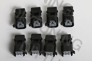 Set 8 Ev1 To Ev6 Fuel Injector Connector Adapter Jumper Ls2 Ls3 Lsx Ls1 Lt1