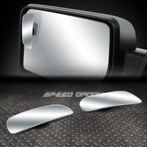 Pair 3 6 Adjustable Rectangular Convex Back Rear Tow Side View Blind Spot Mirror