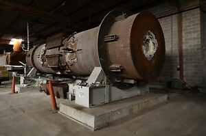 Didion Rotary Reverberatory Melting Furnace Rotates 310 14 Tons day 30 Mill Btu