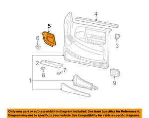 Ford Oem 95 11 Ranger Front Door Finish Panel Trim Right F57z1023712caa