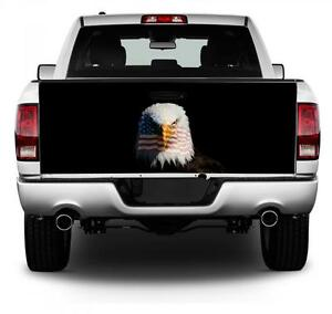 Eagle With American Flag Tailgate Wrap Vinyl Graphic Decal Sticker Wrap