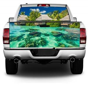 Tropical Paradise Wrap Rear Window Tailgate Graphics Decal Kit
