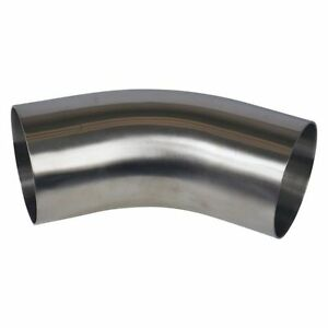 45 Degree Elbow Weld 4 W Tangent Sanitary Stainless Steel Ss304
