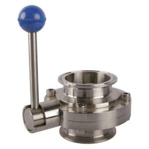Sanitary Butterfly Valve 5000 Tri Clamp 2 5 Pull Handle Silicone Seat seal