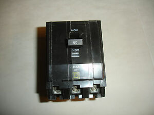 New Oem Factory Genuine Square D Circuit Breaker Qo360 Q0360 60a 60 Amp 240v Vdc