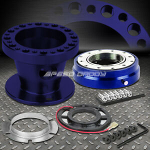 Blue 6 Hole Steering Wheel Hub Adaptor Quick Release For 92 95 Accord Prelude