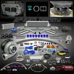 Gt45 23p T4 Universal Turbo Kit Stage Iii Turbocharger intercooler cooler gauges