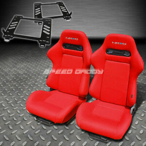 Pair Nrg Type r Style Red Cloth Racing Seat bracket For 89 97 Miata Mx 5 Na