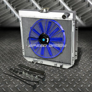 3 row Aluminum Radiator 1x 16 fan Blue For Ford Pinto Mercury Comet cougar L6 v8