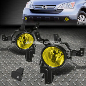 For 07 09 Honda Crv Front Bumper Driving Fog Light Replacement Lamps W switch