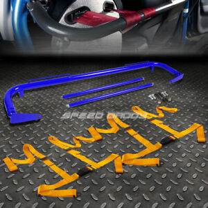 Blue 49 stainless Steel Chassis Harness Bar gold 4 pt Strap Buckle Seat Belt