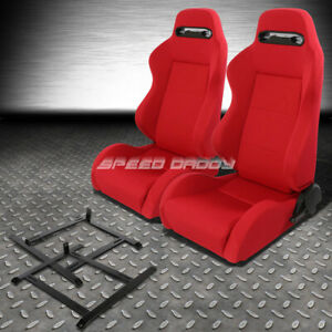 Pair Type r Red Reclinable Racing Seat low mount Bracket For Ap1 Honda S2000 S2k