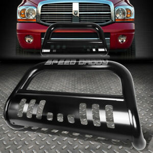For 09 18 Dodge Ram 1500 Truck Black 3 Brush Bull Bar Push Bumper Grille Guard