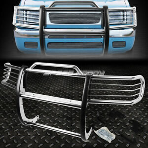 For 98 00 Nissan Frontier Xterra Chrome Stainless Steel Front Bumper Grill Guard