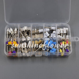 100 Pcs Disposable Dental Prophy Brush Cup Polishing Polisher 10 Mixed Types