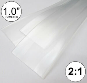 1 0 Id Clear Heat Shrink Tube 2 1 Ratio 1 Wrap 2x24 4 Ft Inch feet to 25mm