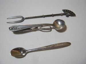 Sterling Silver Vtg Gorham Condiment Salt Spoon Japan Hors D Oeuvre Spear
