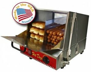 Commercial Heavy Duty 20 Gauge Stainless Steel Hot Dog Steamer Machine Bun Warm