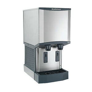 Scotsman Hid525a 1 500 Lb Production W 25 Lb Storage Ice And Water Dispenser